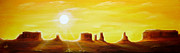 Christine Huwer - Dawn in Monument Valley
