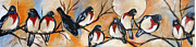 Group Of Birds Painting Posters - Dawn Poster by Jenny King