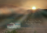 Barn Digital Art - Dawn by Lori Deiter