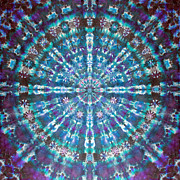 Tie Dye Tapestries - Textiles Metal Prints - Dawn of the Light Metal Print by Courtenay Pollock