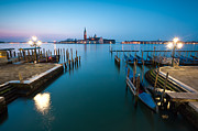 Long Street Framed Prints - Dawn on the blue lagoon in Venice Framed Print by Matteo Colombo