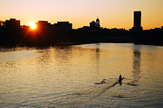 James Kirkikis Art - Dawn on the Charles by James Kirkikis