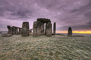 Amesbury Photos - Dawn over the Stones  by Rob Hawkins