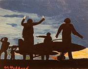 Carrier Painting Originals - Dawn Patrol by Bill Hubbard