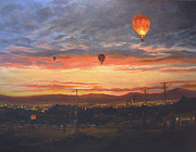 Reno Nevada Painting Prints - Dawn Patrol Print by Donna Tucker