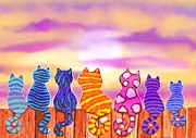 Kittens Mixed Media Prints - Dawn Patrol Print by Nick Gustafson