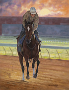Racehorse Paintings - Dawning by Linda Shantz