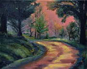 Pathway Paintings - Dawns Early Light by Donna Tuten