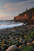 Mt.desert Island Prints - Dawns Early Light Print by Stephen  Vecchiotti