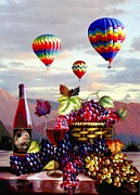 Hot Air Balloon Prints - Dawns Early Ride Print by Ronald Chambers
