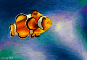 Clown Fish Drawings - Day 71 ACEO by Alaina Ferguson