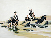 Turn Of The Century Originals - Day at the beach 1800s by Hil Hawken