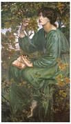 Rossetti Painting Framed Prints - Day Dream Framed Print by Dante Gabriel Rossetti