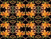 Lilies Digital Art - Day Lily Square Dance 2 by Sarah Loft