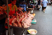Merchant Prints - Day Market - Pak Chong Thailand - 01134 Print by DC Photographer