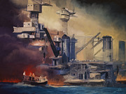 Battleships Framed Prints - Day of Infamy Framed Print by Dale Jackson