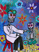 Nurse Posters - Day of the Dead Doctor Poster by Pristine Cartera Turkus