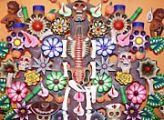 Dead Heads Prints - Day of the Dead Print by Ellen Henneke