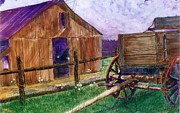 Barn Storm Mixed Media Prints - Day Off Print by Don Hand