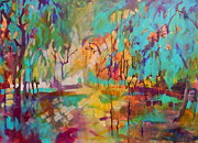 Park Scene Paintings - Day Splendor by Carly Hardy