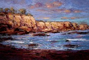 Daybreak At Montana De Oro Beach Print by R W Goetting