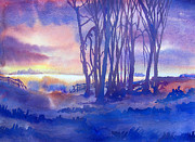 Farm Fields Painting Originals - Daybreak by James Huntley