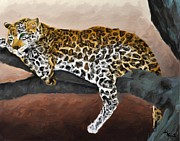 Cheetah Digital Art - Daybreak Leopard by Roger D Hale