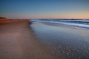 Framed Beach Print Photos - Daybreak On Hatteras II by Steven Ainsworth