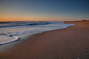 Framed Beach Print Photos - Daybreak On Hatteras by Steven Ainsworth