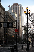 Architecture Framed Prints - Daybreak Over San Francisco Market Street - 5D20613 Framed Print by Wingsdomain Art and Photography