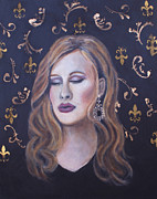 Adele Painting Posters - Daydreaming Goddess Poster by The Art With A Heart By Charlotte Phillips