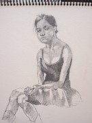 Pencil Sketch Drawings Prints - Daydreaming Print by Ray Agius