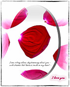 Rose Framed Prints Digital Art - Daydreams by Gerlinde Keating - Keating Associates Inc
