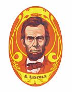 Abe Lincoln Painting Prints - Dayglow Lincoln Print by Harry West