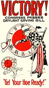 Daylight Drawings Posters - Daylight Saving Poster Poster by Reproduction
