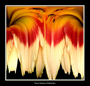Rose Santuci-sofranko Posters - Daylily Flower Abstract 2 Poster by Rose Santuci-Sofranko