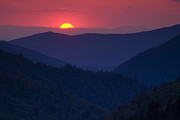 Great Smoky Mountains Posters - Days End Poster by Andrew Soundarajan