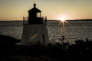 Ri Lighthouse Prints - Days End At Castle Hill Print by Andrew Pacheco