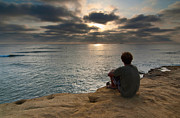 Contemplate Art - Days End - Enjoying the views of Sunset Cliffs. by Jamie Pham