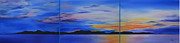 The Heavens Painting Originals - Days End by Jane Autry