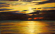 Sheila Diemert Metal Prints - Days End Metal Print by Sheila Diemert