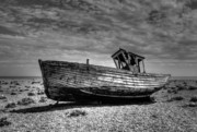 Abandoned Boats Prints - Days gone by Print by Chris Thaxter