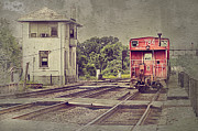 Caboose Digital Art Framed Prints - Days Gone By Framed Print by Donald Schwartz
