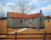 Split Rail Fence Painting Prints - Days Gone By Print by Jeff McJunkin