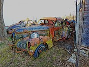 Antique Automobiles Mixed Media - Days Gone By by Steven Overton