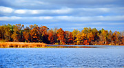 Fall Pyrography Metal Prints - Dayton Lake Metal Print by Jeffrey Platt