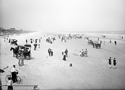 Carriages Posters - Daytona Beach Florida  1904 Poster by Daniel Hagerman