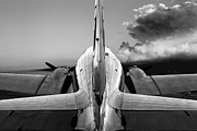 Douglas Dc-3 Framed Prints - DC-3 Rear View 1 Framed Print by Maxwell Amaro