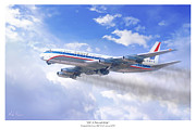 Golden Age Of Flight Posters - DC 8 Friend Ship Poster by Mark Karvon