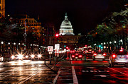 Congress Street Prints - DC in the Dark Print by Walt  Baker
